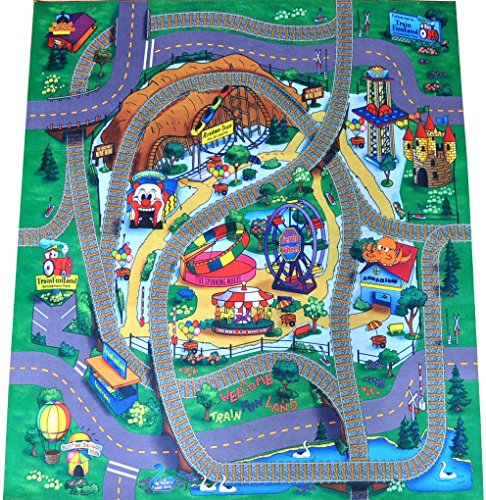 Amusement Park Felt Play Mat With Train Track Design By Silli Me