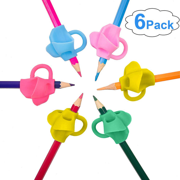 Morepack 6 Pieces Pencil Grips Pen Writing Aid Grip Posture Correction Tool For Children