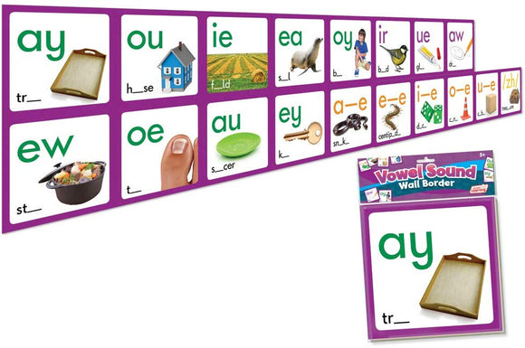 Junior Learning Vowel Sound Wall Border Educational Action Games