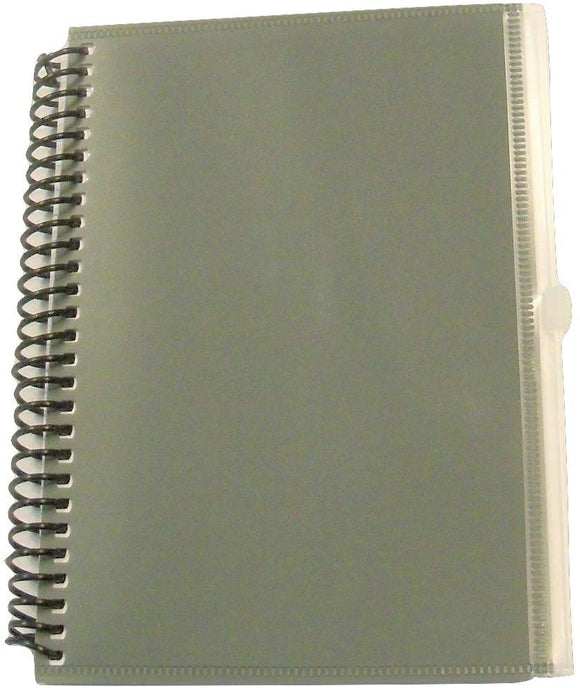 Carolina Pad Studio C Zip-It Notebook With Zipper Pouch Cover ~ Gray (5