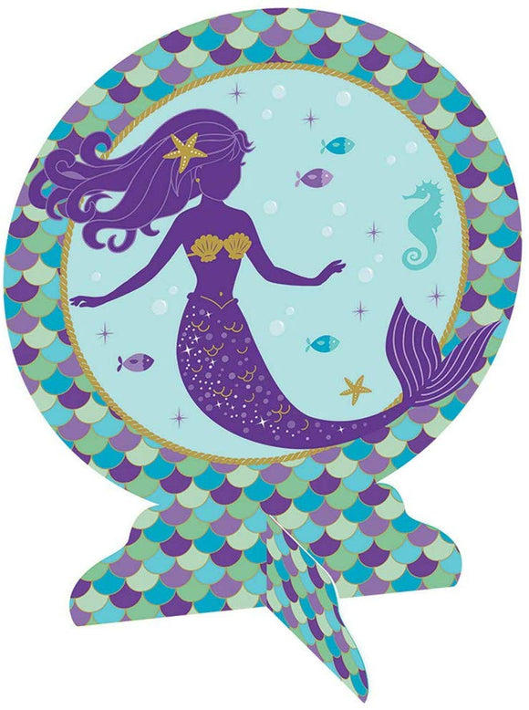 Amscan Mermaid Wishes 3D Table Centerpiece
