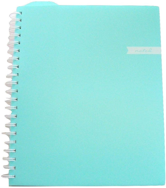 Studio C Carolina Pad College Ruled Executive Notebook, Noted (Mint Green, 9.75 Inches X 11.25 Inches, 100 Sheets, 200 Pages)