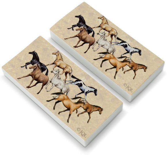 Horses Of Different Colors Eraser Set Of 2
