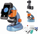 Gosky Microscope For Kids Student Beginner Educational Science Microscope Kit Best Kids Microscope Gift With Smartphone Mount And Slides (40X-200X)