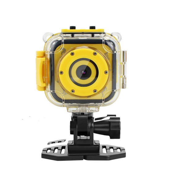 Eoncore Kids Waterproof Camera With Video Recorder Digital Sport Video Camcorder For Cycling Skiing Skating With 8Gb Memory Card (Yellow)