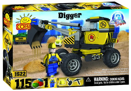 Cobi Action Town Construction Digger, 115 Piece Set
