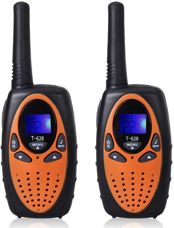 Dimy Walkie Talkies For Kids Boys Girls, Long Range Walkie Talkies For Kids Christmas Brithday Gifts For Boys Age 5-12 Popular Toys For 5-14 Year Old Boys Orange T6285