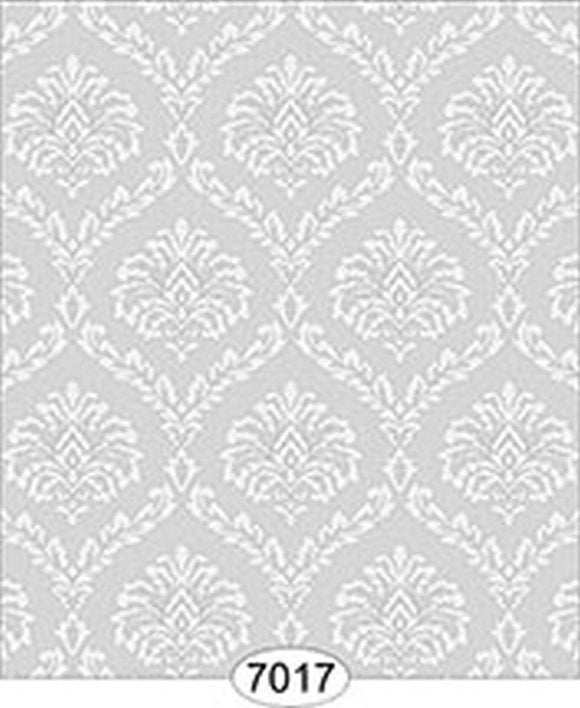 Dollhouse Miniature Wallpaper - Ethereal Damask Grey