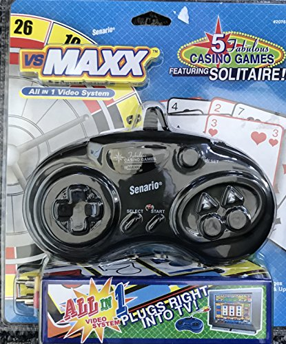 Vs Maxx All In 1 Video System - 5 Fabulous Casino Games Featuring Solitaire - Plugs Right Into Tv