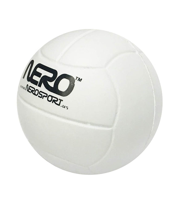 Nero Ns-Rs High Bounce Rubber Toy Volleyball 2.5 Inch Great For The Streets Park Back Yard Agility Ball Bulk Price (White)
