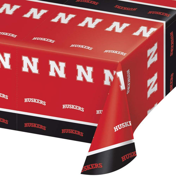 2-Ct University Of Nebraska Premium Huskers Plastic Table Covers College Party