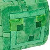 Jinx Minecraft Slime Plush Stuffed Toy (Green, 9.5  Square)
