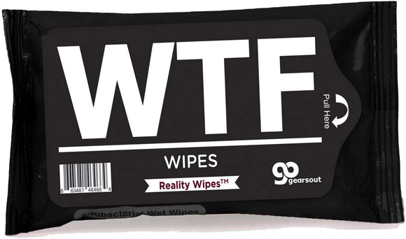Gears Out Wtf Wipes Antibacterial Wet Wipes Cool Guy Gags Weird Ideas For Friends Fun Stocking Stuffers For Men Whiskey Tango Foxtrot Novelty For Adults Unisex White Elephant Gift Fathers Day