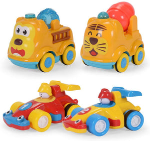 Nextx Push And Go Friction Powered Car Toys Set For Kids 4Pcs