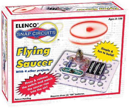 Snap Circuits Flying Saucer Kit Discovery Kit | 5 Ufo Projects | 4-Color Project Manual | Lots Of Stem Fun