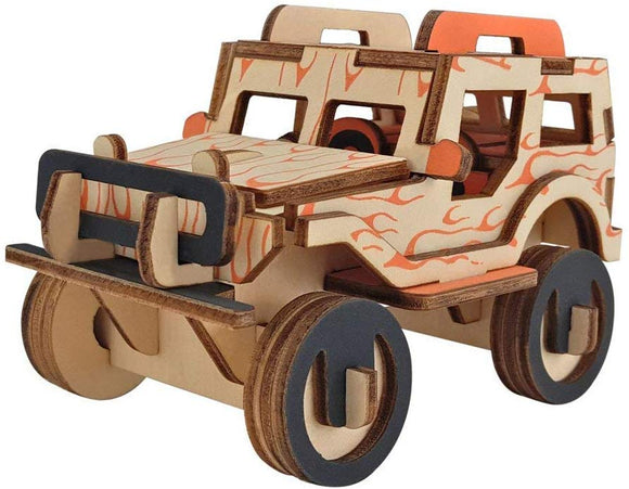 Tommot 3D Wooden Puzzle,Educational Toys For Children,Building Toy,Car Model Kits