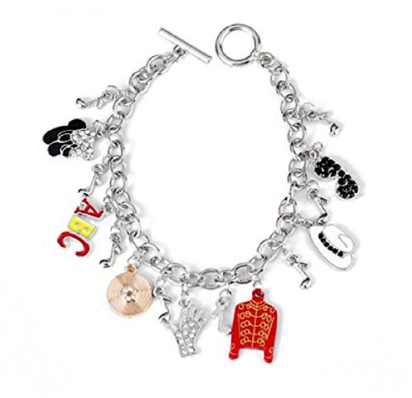 New Horizons Production Michael Jackson Themed Assorted Metal Charms Bracelet