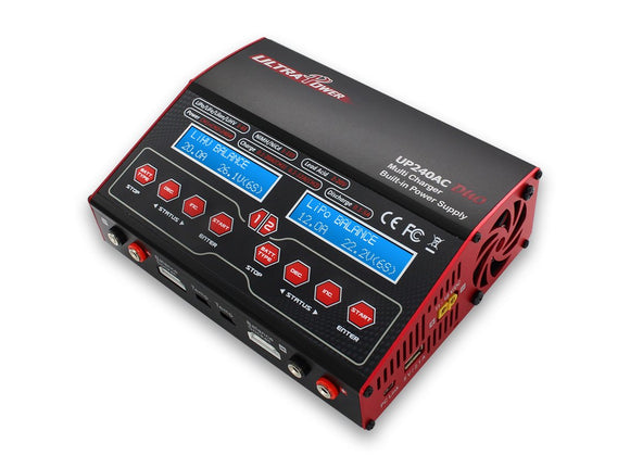 Up240Ac Duo Dual Port (Ch1 20Amps, Ch2 12Amps, 240Watts Max Total): Lipo, Lihv, Liion, Life, Nicd, Nimh, Pb Ac/Dc Balancing Battery Multicharger W/ Warranty