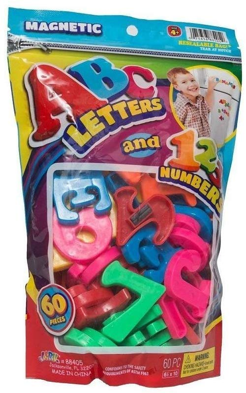 Jaru Abc Magnetic Letters & Numbers