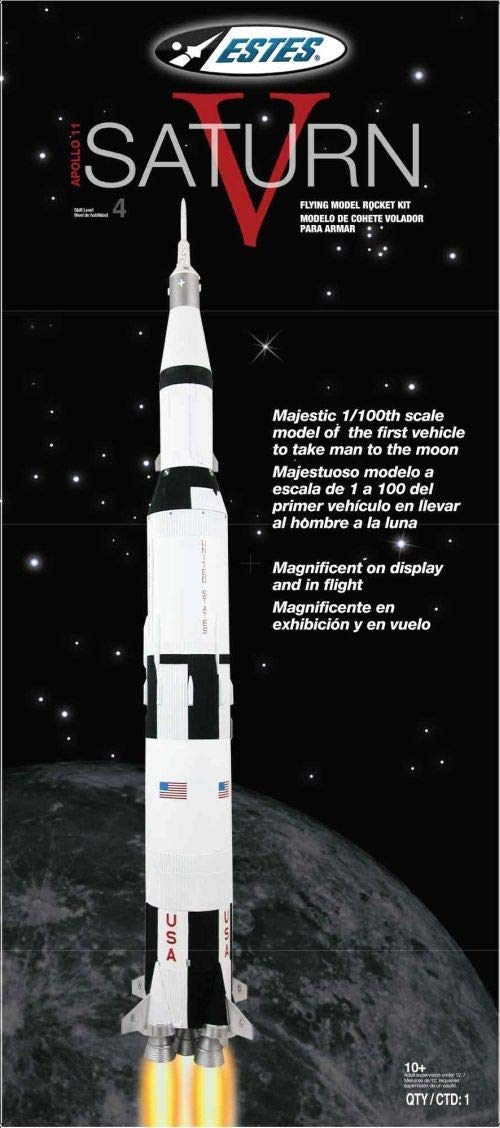 Estes Rockets 1969 Saturn V Model Rocket Kit (1/100 Scale), Brown/A