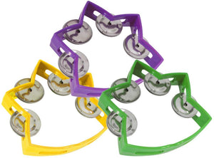 Sound Choice Set Of 3 Star Tambourines (5.5X4.5 In)