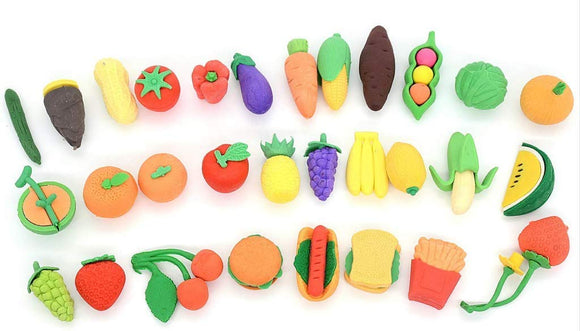 Pencil Erasers Puzzle Kitchen Food Erasers For Kids Party Favors, Games Prizes, Carnivals And School Supplies. Halloween And Christmas Gift For Children.