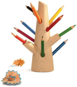 Pencil Crayon Tree Set, Tree Holder & 12 Colored Pencil Crayons Included
