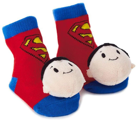 Hallmark Superman Itty Bittys Baby Rattle Socks Baby Clothes Superheroes