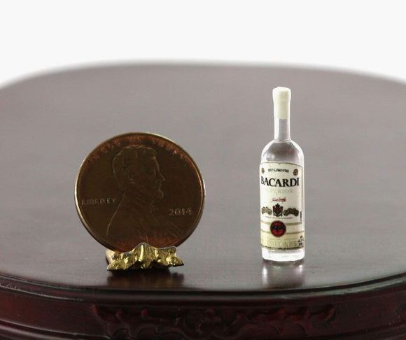 Dollhouse Miniature 1:12 Bottle Of Puerto Rican Rum By Hudson River Miniatures
