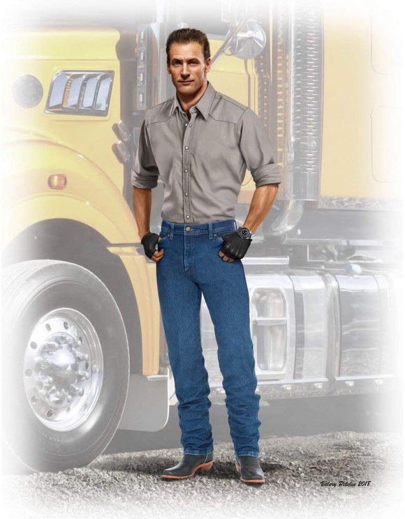 Scale Model Kit Truckers Series. Stan (Long Haul) Thompson 1/24 Master Box 24042