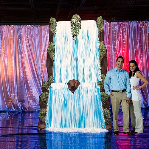 11 Ft. 6 In. Giant Waterfall Prop Standup Photo Booth Prop Background Backdrop Party Decoration Decor Scene Setter Cardboard Cutout