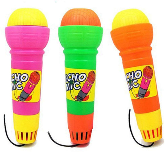 Gprince Plastic Magic Mic Novelty Echo Microphone Pretend Play Halloween Christmas Toy Gift For Children Random Color