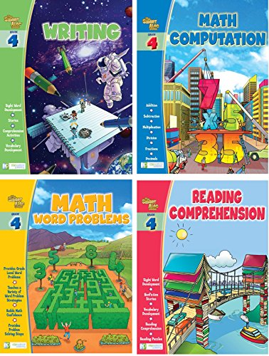 Smart Alec (4Th Grade) Four Pack Learning Series, Includes: Writing, Math Readiness, Reading Readiness, Math Word Problems