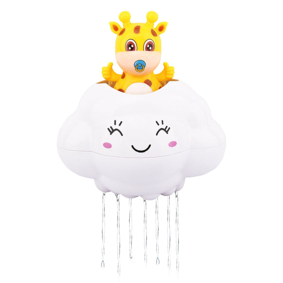 Zooawa Baby Bath Time Toy, Deer Hide In Rain Cloud Kids Bathroom Bathtub Water Toys, Swimming Floating Pool Fun Cute Play For Toddlers, Colorful