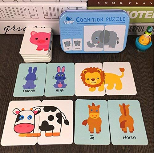 My First Learning , Head And Tails, Front And Back, Puzlle Gamess Packaged With Metal Box