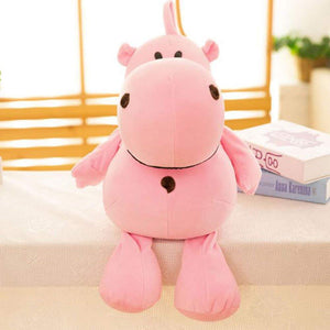 Dongcrystal 17.7 Inches Hippo Soft Plush Toy Stuffed Animal Pillow Pink
