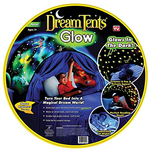 Dream Tents Glow - Space Explorer - Twin Size - Glow In The Dark