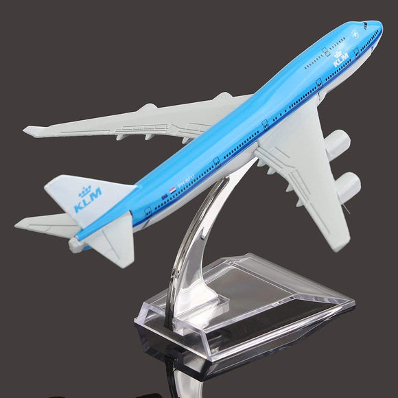 New 16Cm Airplane Metal Plane Model Aircraft B747 Klm Aeroplane Scale Models Child Birthday Gift Plane