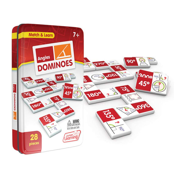 Junior Learning Angles Dominoes Educational Action Games