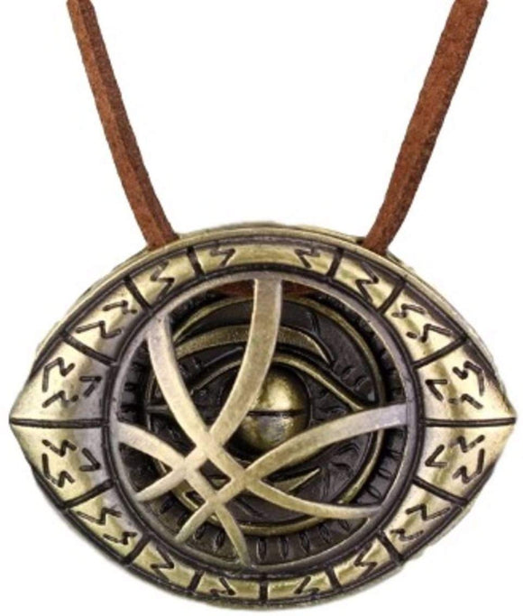 Marvels Doctor Strange Eye Bronze Pendant Necklace
