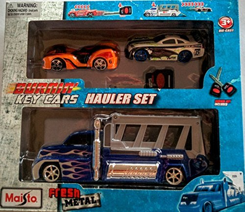 Burnin Key Cars Fresh Metal Hauler Set