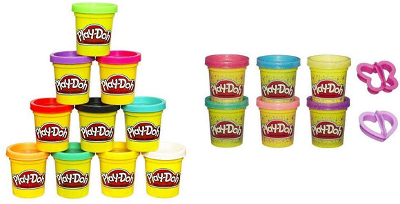Play-Doh Colors (Amazon Exclusive) With Play-Doh Sparkle Compound Collection Bundle