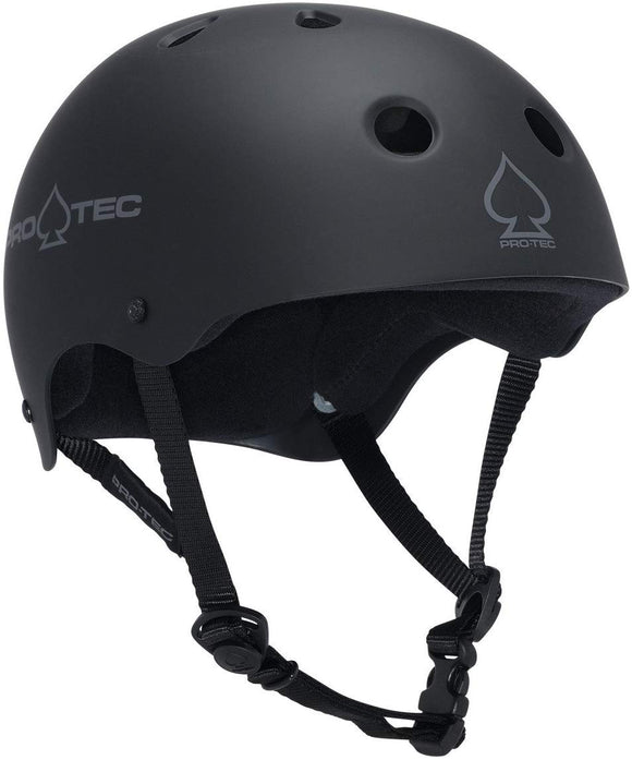 Protec Classic Rubber Black Skate Helmet - (Certified) - Small / 21.3