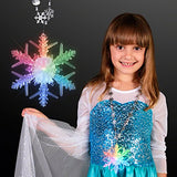 Light Up Led Snowflake Beaded Necklace (Set Of 12)