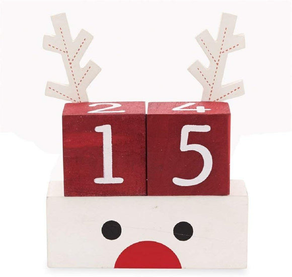 Reindeer Count Down Blocks