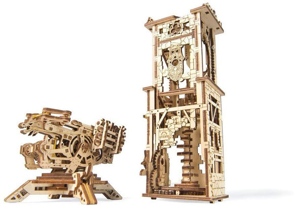 Mechanical Ugears Wooden 3D Puzzle Model Archballista-Tower Construction Set