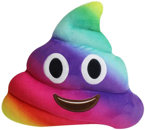 Spiritup Rainbow Poop Emoji Emoticon Cushion Pillow Cute Decorative Stuffed Plush Toy Doll Gift For Kid Party