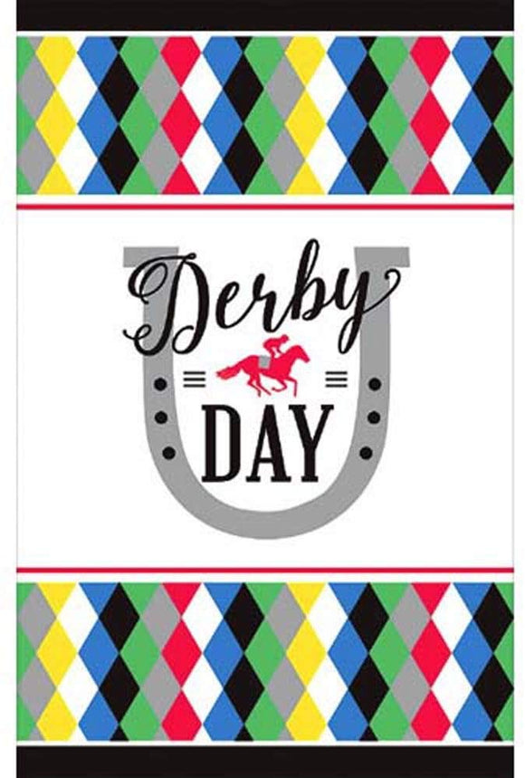 Kentucky Derby 'Derby Day' Paper Table Cover (1Ct)