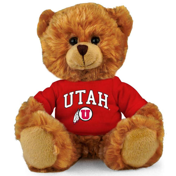 Plushland Ncaa Collegiate Jersey Bear 6  Team Sports Vivid Clear Color Toy, Stuffed Animals Toy, State University, School Logo Kids, Bulk Parties Edition (Utah Utes)