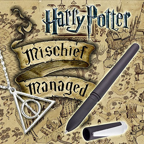 Magic Ink Pen For Marauders Map With Deathly Hallows Necklace Invisible Ink Pen (Disappear Ink Pen)